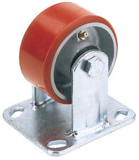 DRAPER 160mm Dia Fixed Plate Heavy Duty Polyurethane Wheel SWL 400Kg | 65531