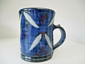 Robert Goldsmith Selborne Pottery Stoneware Mug Blue with  pattern