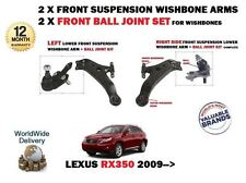 FOR LEXUS RX350 2009->NEW LEFT +  RIGHT 2X FRONT WISHBONE ARM + BALL JOINT KIT
