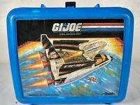1989 Hasbro GI Joe Blue Plastic Lunchbox & Thermos Aladdin