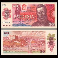Czechoslovakia 50 Korun, 1987, P-96a, banknotes,UNC, Europe Paper Money