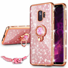 Luxury Bling Diamond Ring Holder Stand Phone Case Cover For Samsung Galaxy S8 S9
