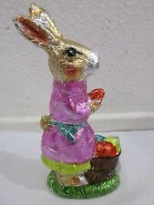 Easter Faux Chocolate Gold Bunny Rabbit with Egg Figurine Decoration Decor 7.5""