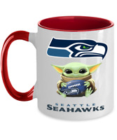 SEAHAWKS Coffee Mug, Pink Two Toned Seattle SEAHAWKS Yoda Coffee Mug Gift