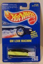 GM Lean Machine Hot Wheels 1991 Blue Card #268