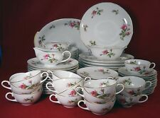 SANGO china MOSS ROSE pattern 75-Piece Set Service - cup dinner salad fruit soup