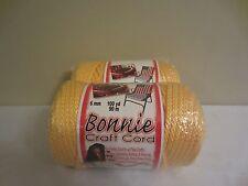 Lot of 2 Rolls of Sunshine 6mm Bonnie Braid Braided Macrame Craft Cord 200yds