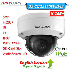 Hikvision DS-2CD2185FWD-IS 8MP IP Dome Camera H.265 PoE WDR IP67 IR TF slot EN