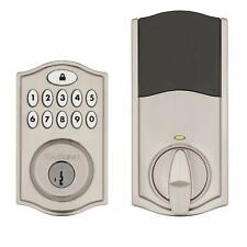 Kwikset SmartCode 914 Keypad Smart Lock (Amazon Key Satin Nickel, Nickel