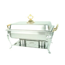 Thunder Group 8 Qt Full Size Stainless Steel Deluxe Chafer w/ Brass Handle