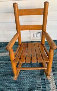 vintage child's-toddler  rocking chair Slatted Seat