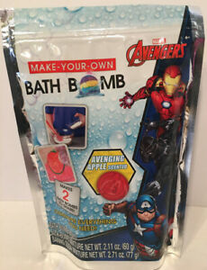 Marvel Avengers Bath Bomb Mold Apple Scent Make Your Own Makes 2 Bath Bombs