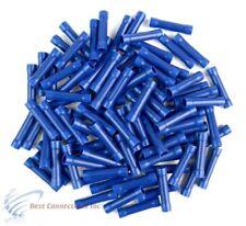 100 PCS Blue Vinyl Butt Connector 16-14 Gauge 12 Volt Electrical Install BVBC