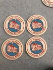 (4) Vintage Reddy Kilowatt Reddybox Advertising Beer Coasters