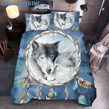King Size Duvet Cover Wolf Printing 3d Bedding Sets Queen Bed Comforters