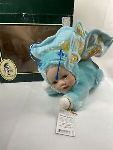 Geppeddo Cuddle Kids Brecken Butterfly Baby Doll Porcelain Face Plush 2003 w/box