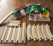 Wooden Train Lot BRIO, Collapsing Bridge, Station +Sounds, Track, Thomas Compat