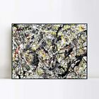"""Framed Art Silver Over Black,White,Yellow and Red,1948 by Jackson Pollock 28x40"""""""