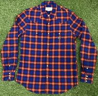 Vintage Ralph Lauren Denim & Supply Blue Red Check Shirt Men's Size Medium M