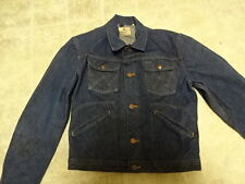 3 WASH COND ORIGINAL 60'S VINTAGE WRANGLER BLUE BELL JEANS JACKET  GREAT COND