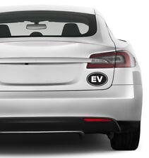 "(2x) 5"" EV Electric Vehicle Euro Emblem Logo Vinyl Decals for Electric or Hybrid"