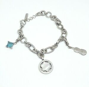 Armband / Bettelarmband von Montblanc aus 925 Silber mit Charm Anhängern