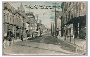 Early! Main Street from Railroad MORRISTOWN TN Tennessee Vintage Postcard