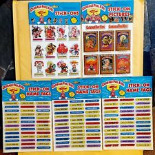 LOT of 5 PACKS: 1985 GPK IMPERIAL STICK-ONS / PICTURES & NAME TAGS (UNOPENED)