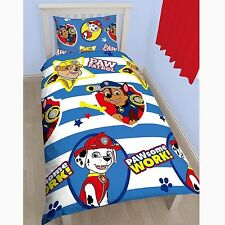 Paw Patrol Pawsome Rotary Print Duvet Set Polyester Multi-colour Single