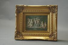Tableau Ange Relief Imitation Jade derrière Verre Cadre or 31 cm X 26 cm Tableau
