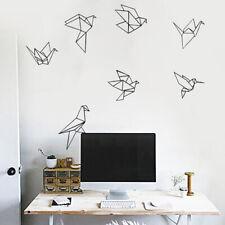 Modern Origami Crane Wall Sticker Decal Mural Home Living Room Bedroom Decor MA