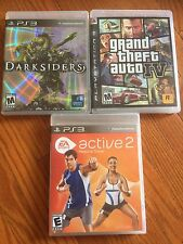 PS3 Playstation 3 Blu-ray Darksiders Grand Theft Auto IV (4) EA Sports Active 2