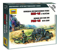 Zvezda 1/72 Figures - German PAK-40 Anti Tank Gun with Crew Z6257