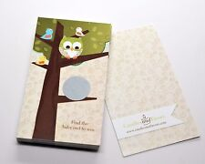 Owl - Look Whooo's Having A Baby - Baby Shower Scratch Off Game Pack