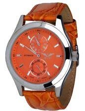 Minoir Uhren Modell Skylla orange Regulateur mit kleiner Sekundenanzeige