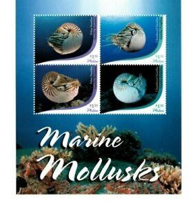 Palau - 2015 - Marine Mollusks - Sheet of Four - MNH