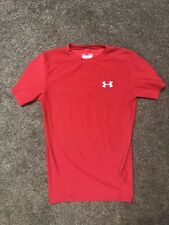Mens Red Under Armour Heat Gear Compression Short Sleeve Size Large