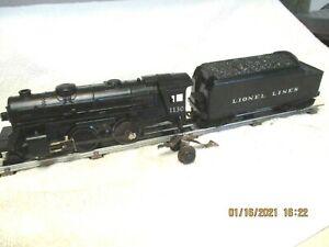 """"""" LIONEL """" # 1130 2 - 4 - 2 STEAM LOCOMOTIVE & COAL & WATER TENDER 1953 - 54"""