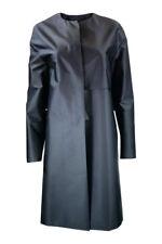*CALVIN KLEIN* CK COLLECTION WOMEN'S BLUE SHINY LONG COAT (UK 12)