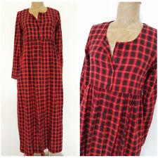 Vintage 80s Plaid Flannel Dress Size Small Moda Int'l Long Victorias Secret