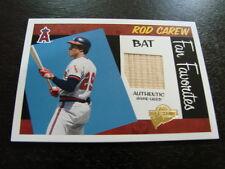 2005 Topps All Time Fan Favorites Rod Carew Bat Card (B101) California Angels