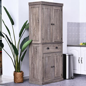 Kitchen Pantry Cupboard Storage Cabinet Freestanding Home Organizer Furniture