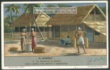 Bamboo House  Asia Orient Abitazioni In Bambu 60 Y/O Trade Ad  Card