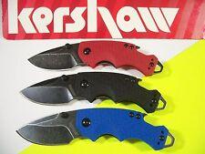 KERSHAW - SHUFFLE Blackwash 3 Pc SET Black Blue Red knife bottle opener 8700KITX