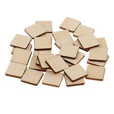 Placa de madera 10 Plaza hueco inacabado Formas De Madera Material de artesanía Hazlo tú mismo de 60mm