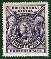 BRITISH EAST AFRICA (KUT) QV SG.94 3r High Value (1897) Mint MM Cat £180 WHITE9