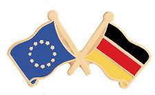 Allemagne & Union Européenne Eu Drapeau Amitié Courtoisie Plaqué or Broche Badge