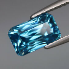 3.66Ct.Ravishing Color Natural Blue Cambodian Zircon Perfect Shape&Eye Clean