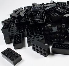 LEGO BRICKS 25 x BLACK 2x4 Pin - From Brand New Sets sent in a Sealed Clear Bag