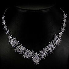 209 CTS!! MAJESTIC! NATURAL AAA RICH BLUE VIOLET TANZANITE 925 SILVER NECKLACE